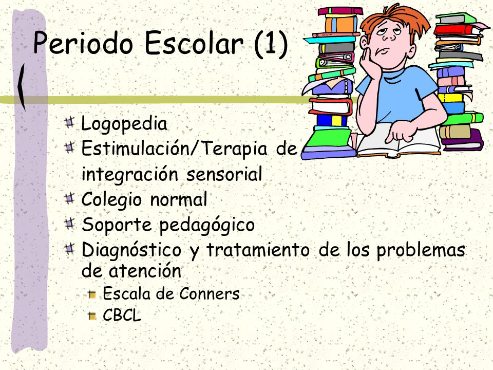 Periodo Escolar (1) Logopedia Estimulación/Terapia de