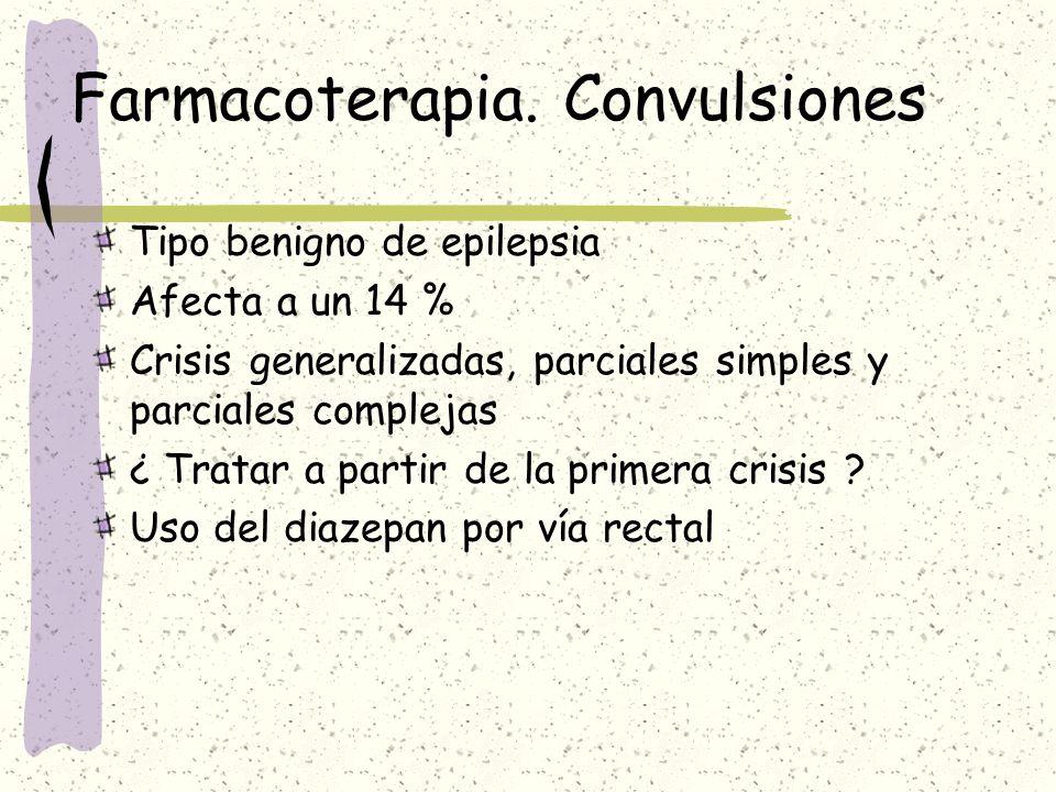 Farmacoterapia. Convulsiones