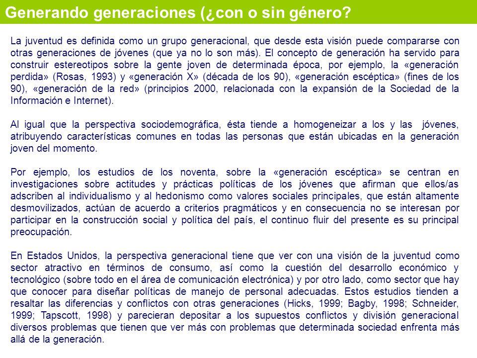 Generando generaciones (¿con o sin género