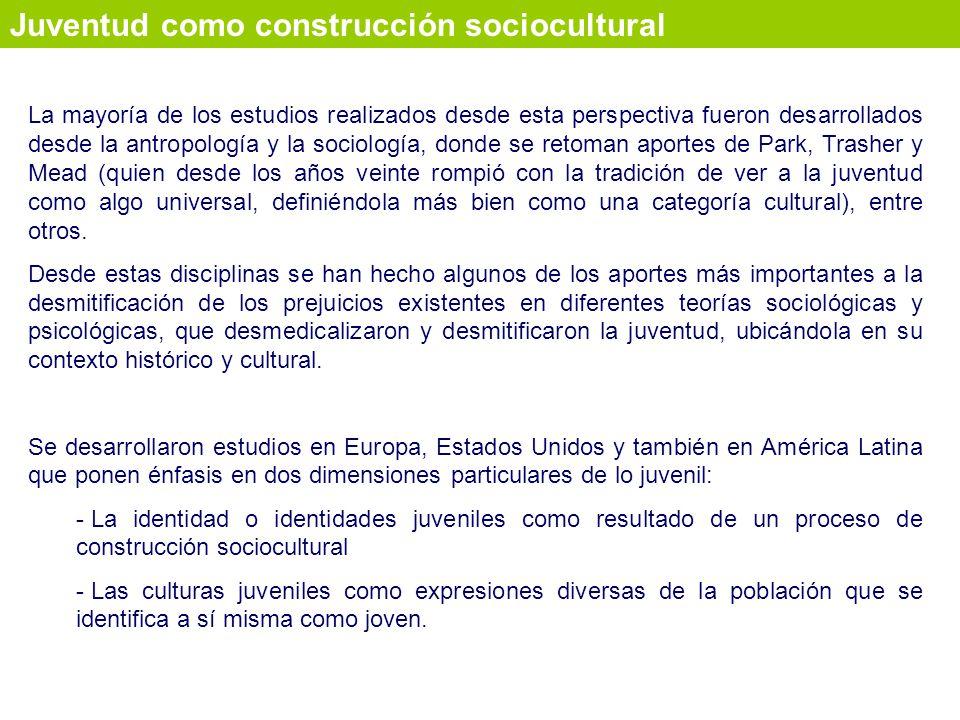 Juventud como construcción sociocultural