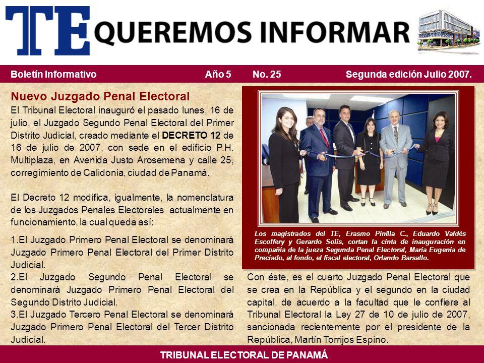 TRIBUNAL ELECTORAL DE PANAMÁ