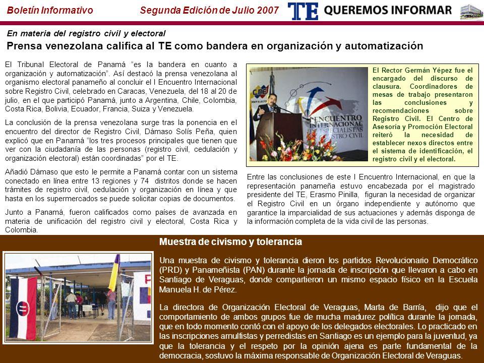 Boletín Informativo Segunda Edición de Julio 2007