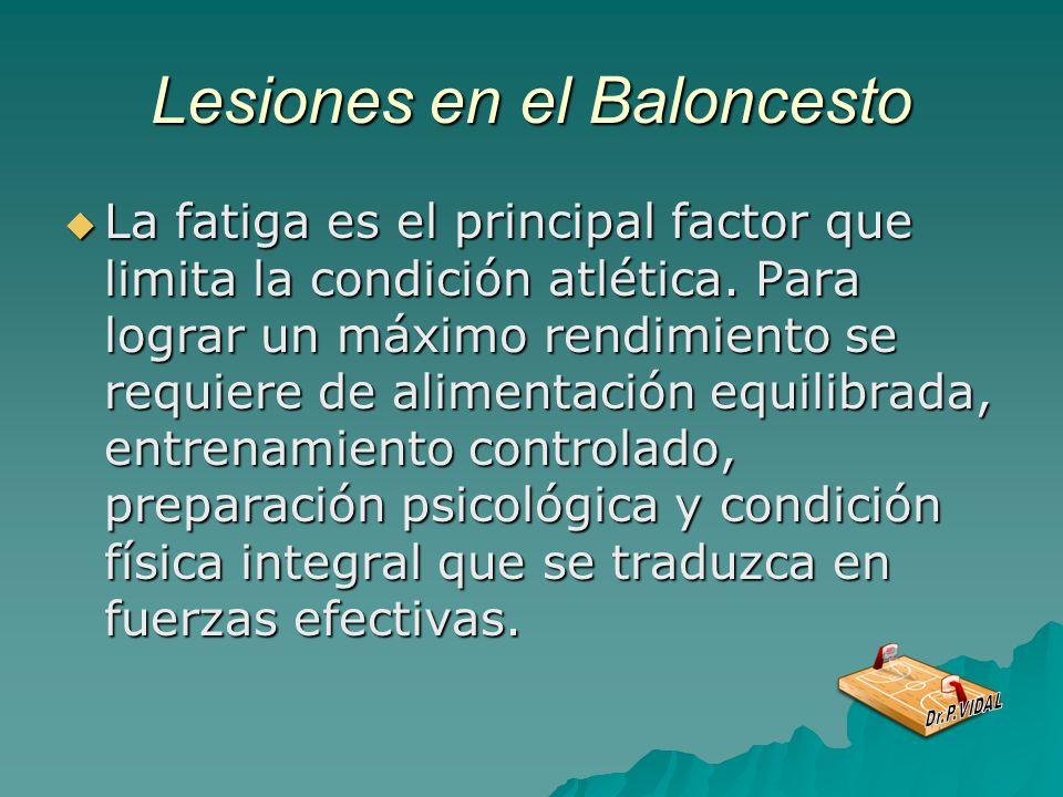Lesiones en el Baloncesto