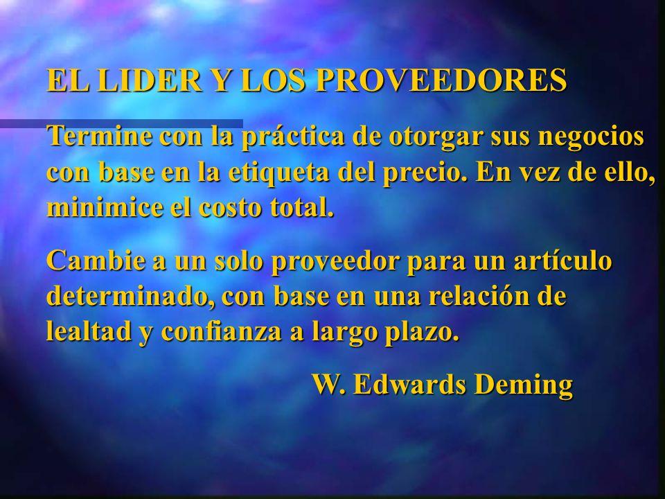 EL LIDER Y LOS PROVEEDORES
