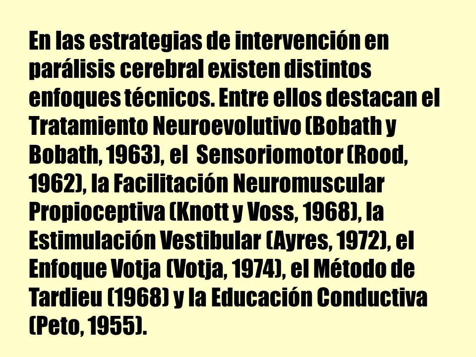 En las estrategias de intervención en parálisis cerebral existen distintos enfoques técnicos.