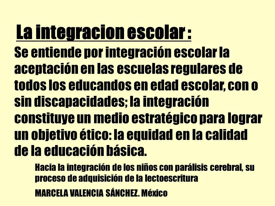 La integracion escolar :