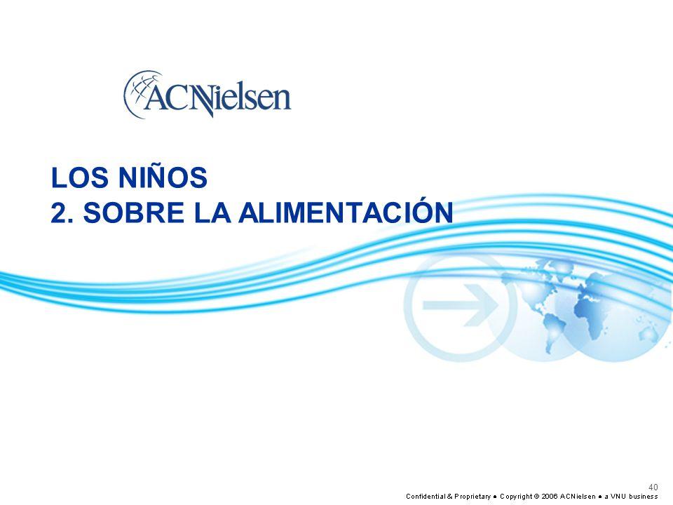 LOS NIÑOS 2. SOBRE LA ALIMENTACIÓN