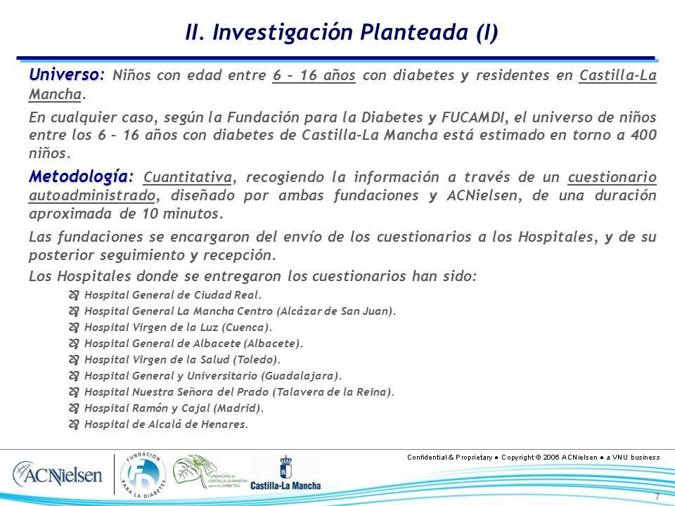II. Investigación Planteada (I)