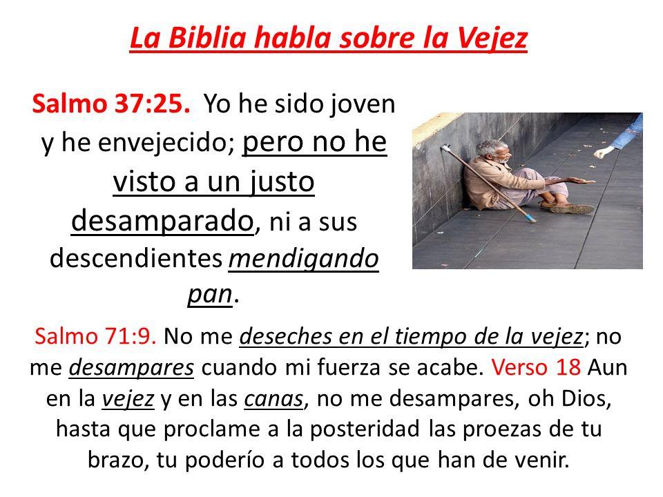 La Biblia habla sobre la Vejez