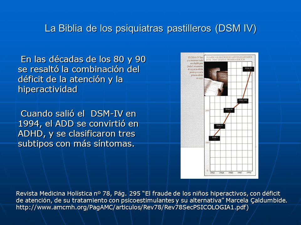 La Biblia de los psiquiatras pastilleros (DSM IV)