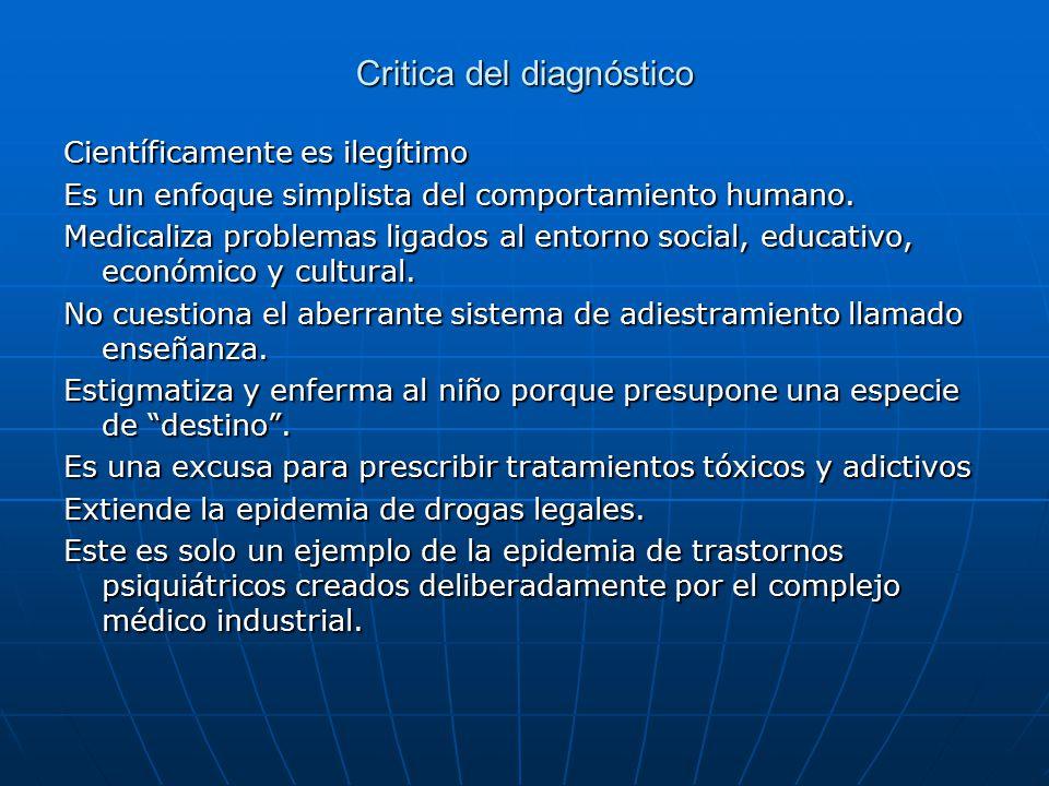 Critica del diagnóstico
