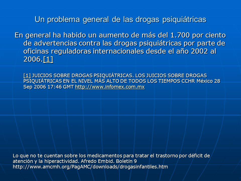 Un problema general de las drogas psiquiátricas