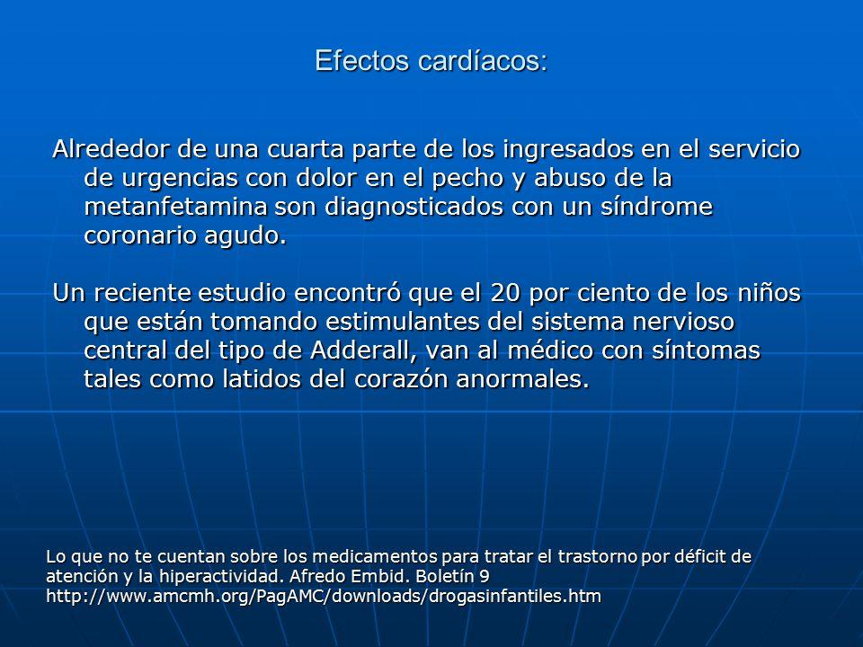 Efectos cardíacos: