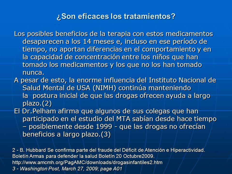 ¿Son eficaces los tratamientos