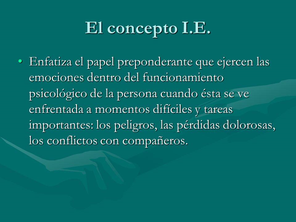 El concepto I.E.