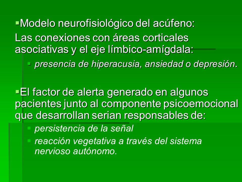 Modelo neurofisiológico del acúfeno:
