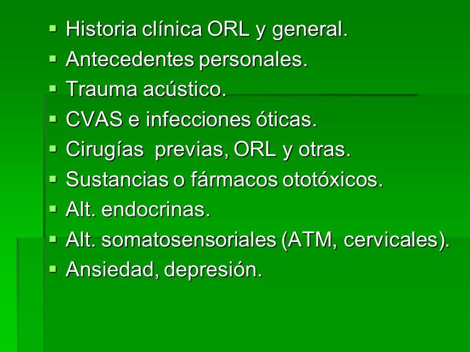 Historia clínica ORL y general.