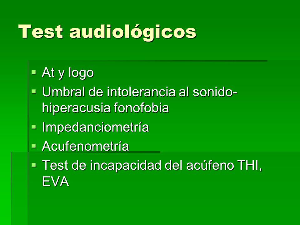 Test audiológicos At y logo