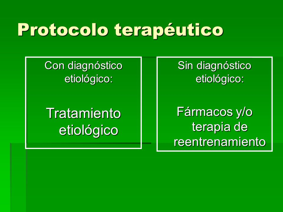 Protocolo terapéutico