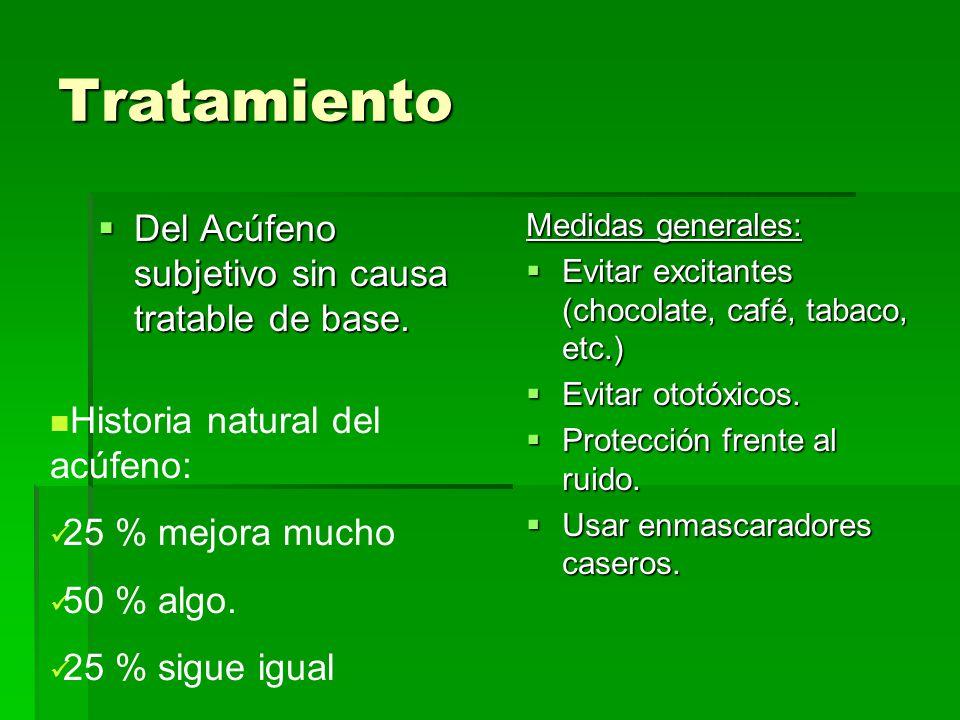 Tratamiento Del Acúfeno subjetivo sin causa tratable de base.