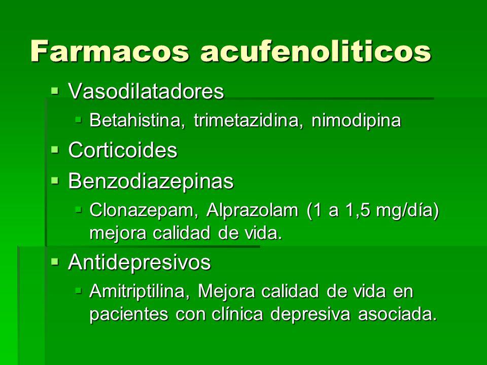 Farmacos acufenoliticos