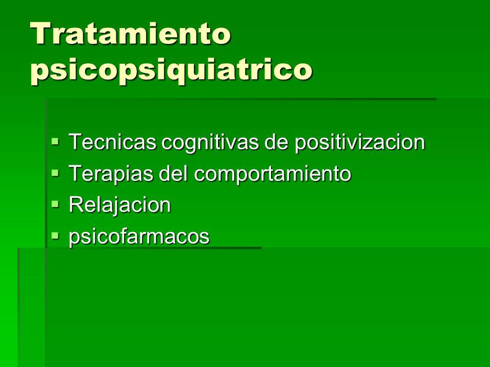 Tratamiento psicopsiquiatrico
