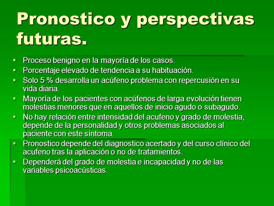 Pronostico y perspectivas futuras.