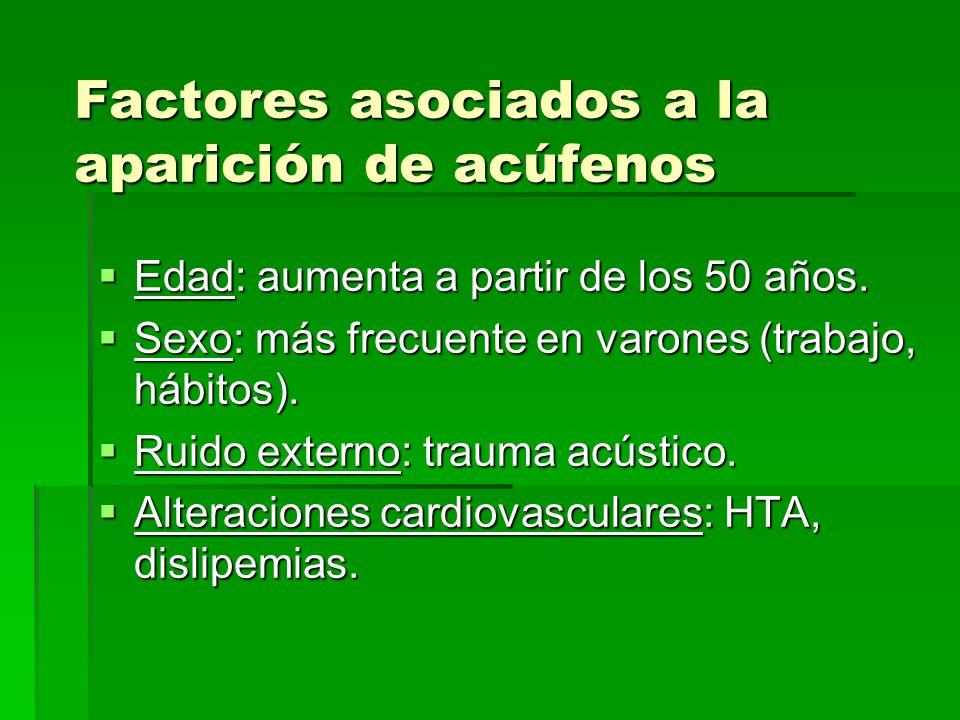 Factores asociados a la aparición de acúfenos