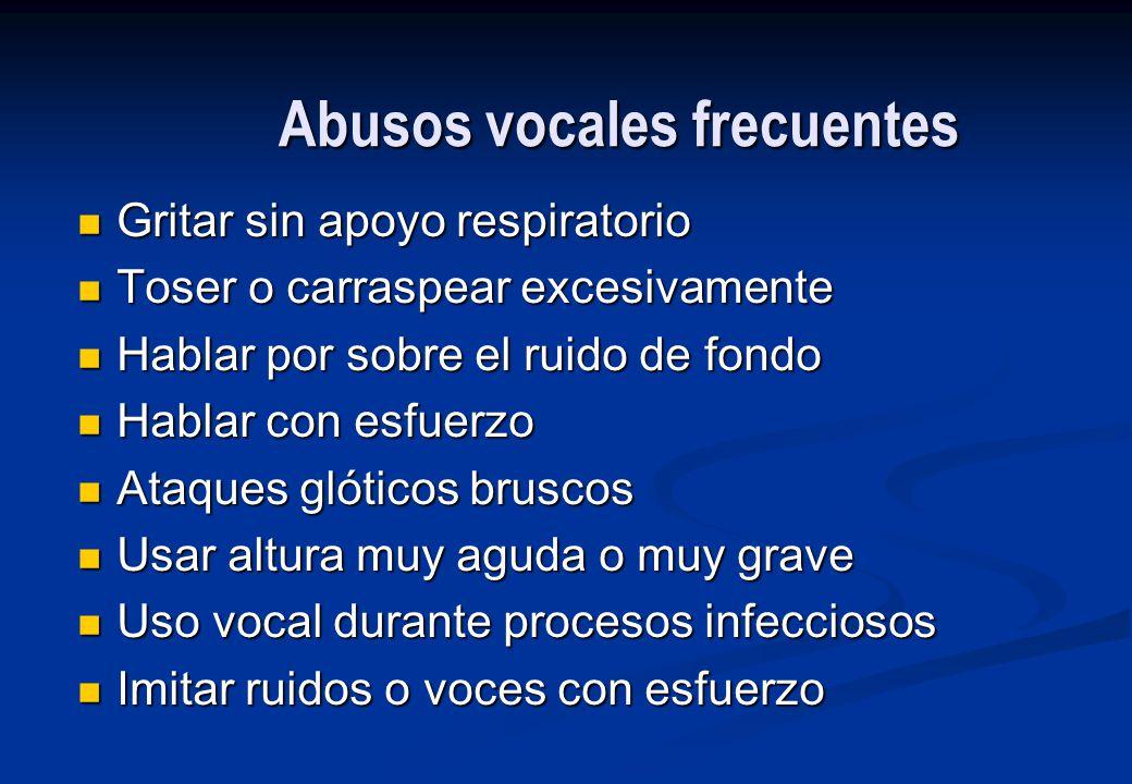 Abusos vocales frecuentes