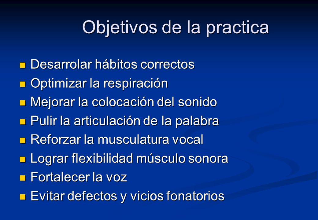 Objetivos de la practica