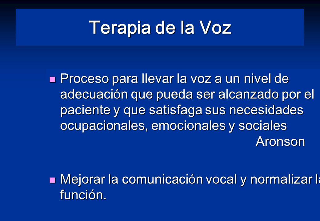 Terapia de la Voz