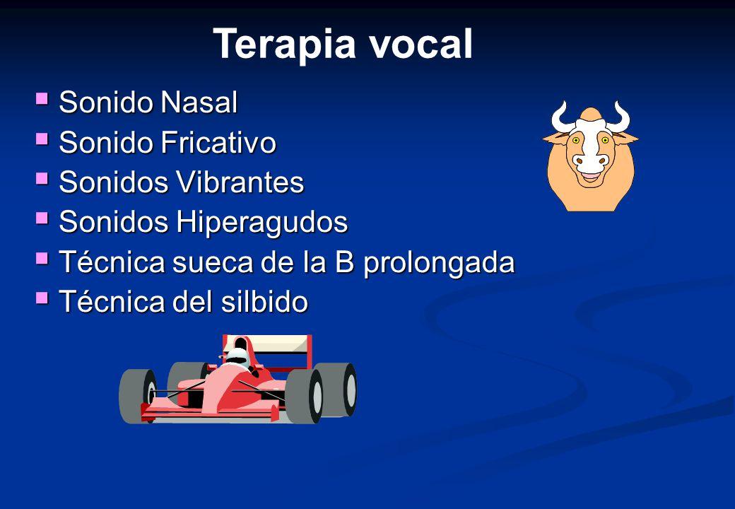 Terapia vocal Sonido Nasal Sonido Fricativo Sonidos Vibrantes