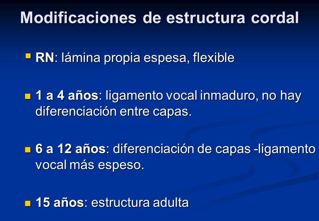 Modificaciones de estructura cordal