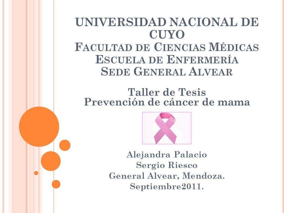 Taller de Tesis Prevención de cáncer de mama General Alvear, Mendoza.