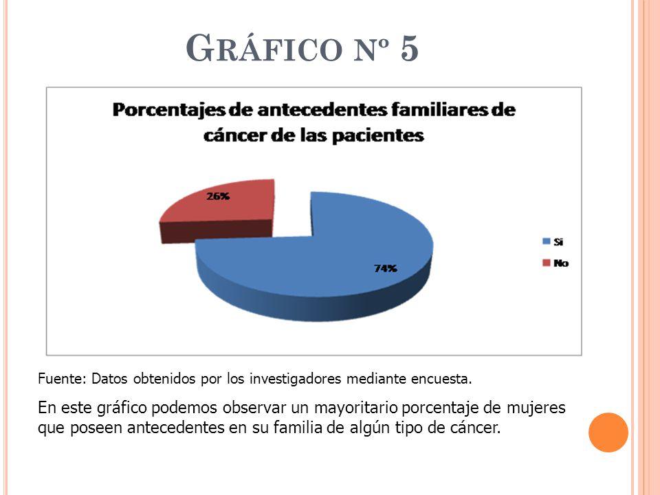 Gráfico nº 5 Fuente: Datos obtenidos por los investigadores mediante encuesta.