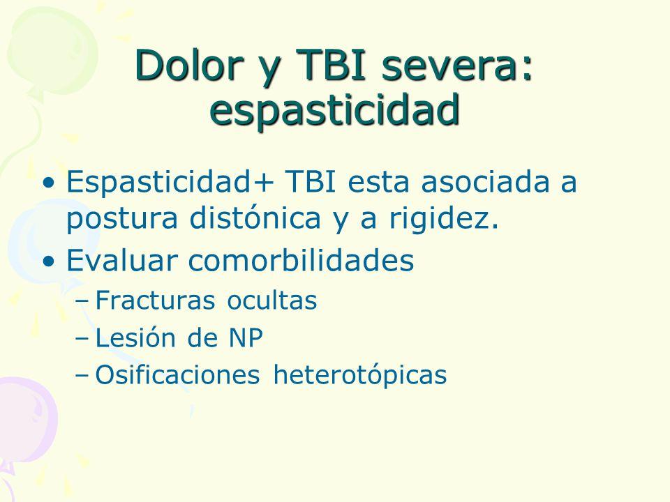 Dolor y TBI severa: espasticidad