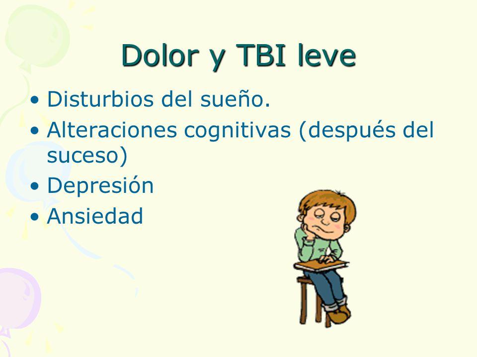 Dolor y TBI leve Disturbios del sueño.