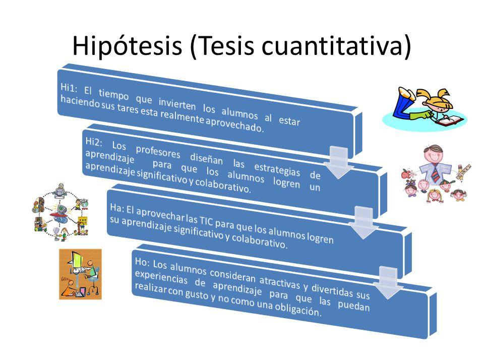 Hipótesis (Tesis cuantitativa)
