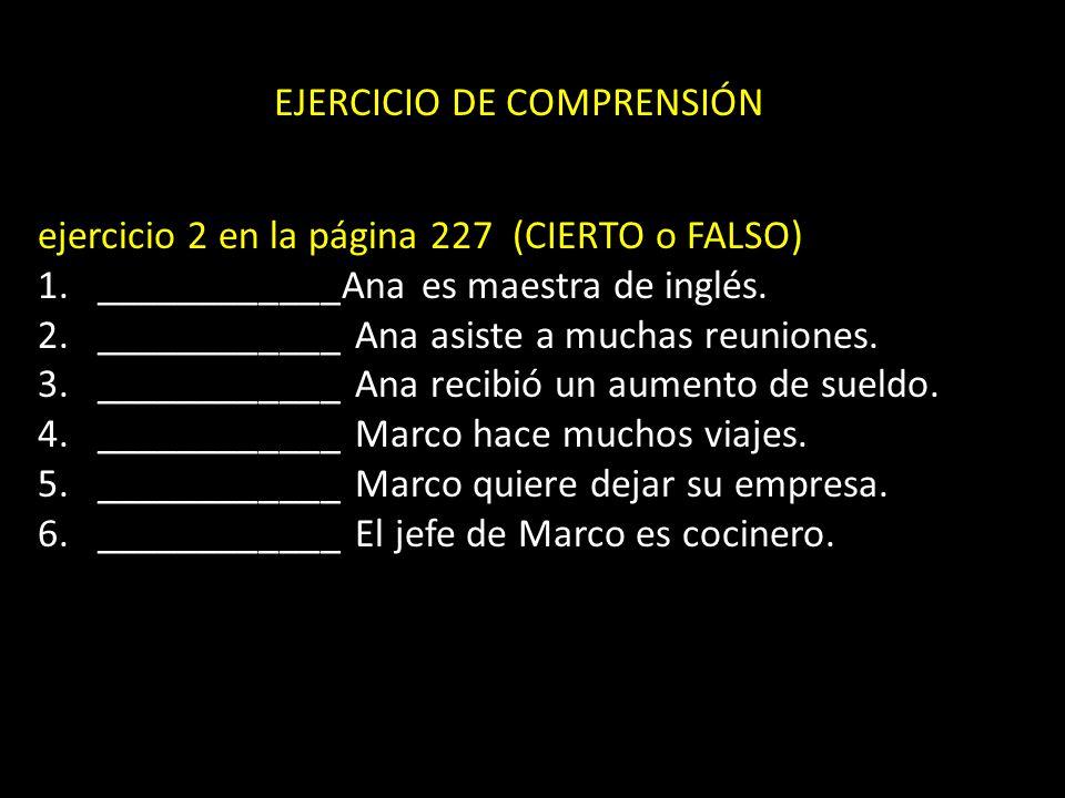EJERCICIO DE COMPRENSIÓN