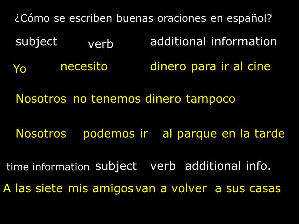 ¿Cómo se escriben buenas oraciones en español