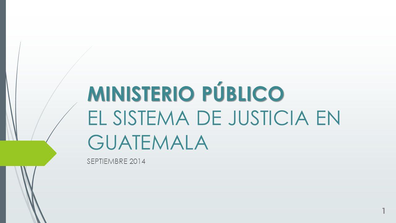MINISTERIO PÚBLICO EL SISTEMA DE JUSTICIA EN GUATEMALA