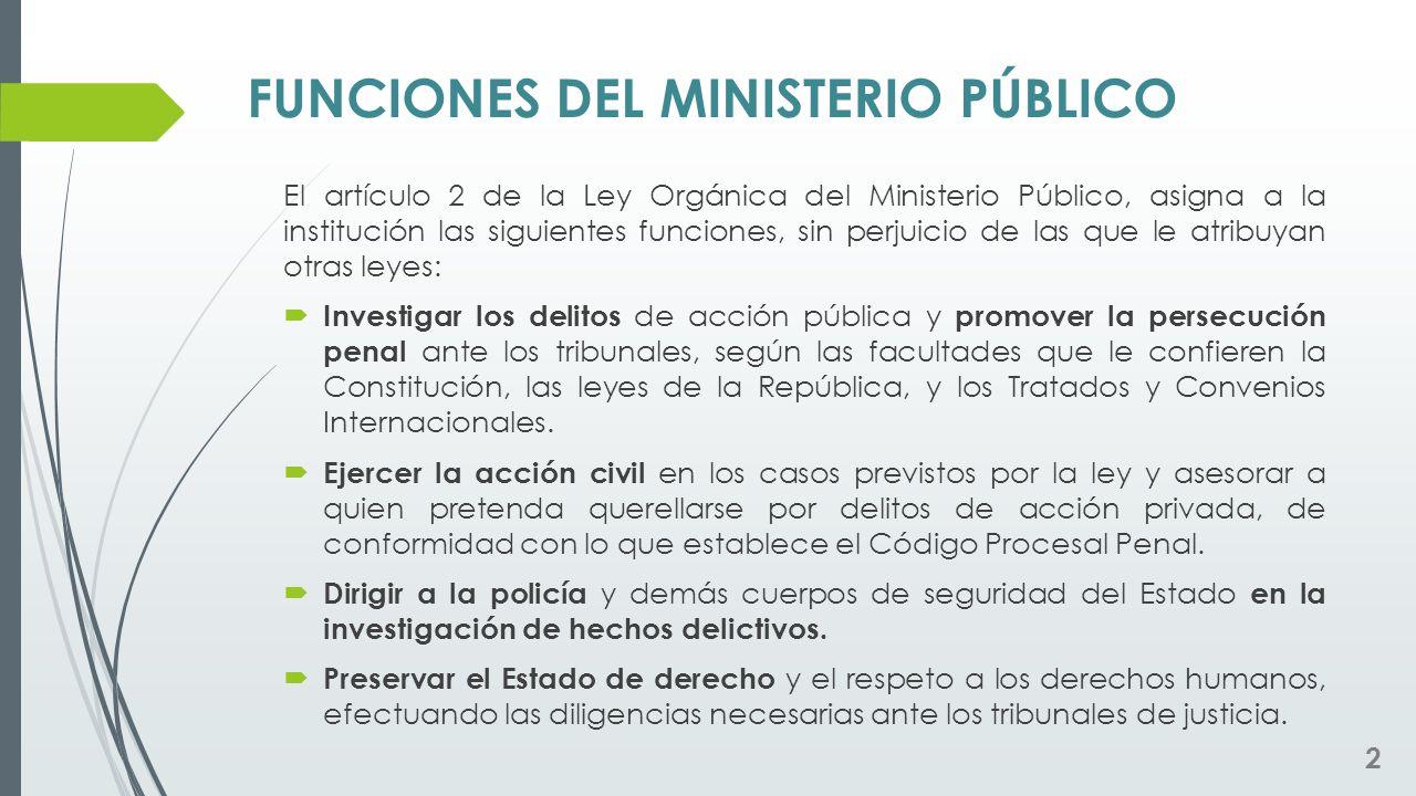 FUNCIONES DEL MINISTERIO PÚBLICO