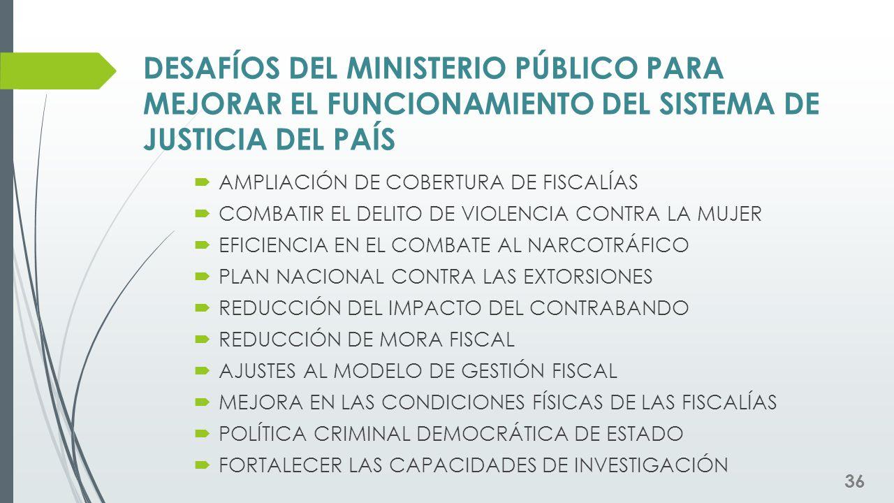 DESAFÍOS DEL MINISTERIO PÚBLICO PARA MEJORAR EL FUNCIONAMIENTO DEL SISTEMA DE JUSTICIA DEL PAÍS