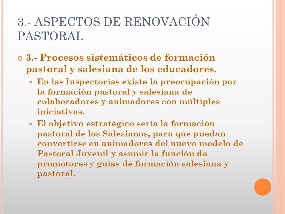 3.- ASPECTOS DE RENOVACIÓN PASTORAL