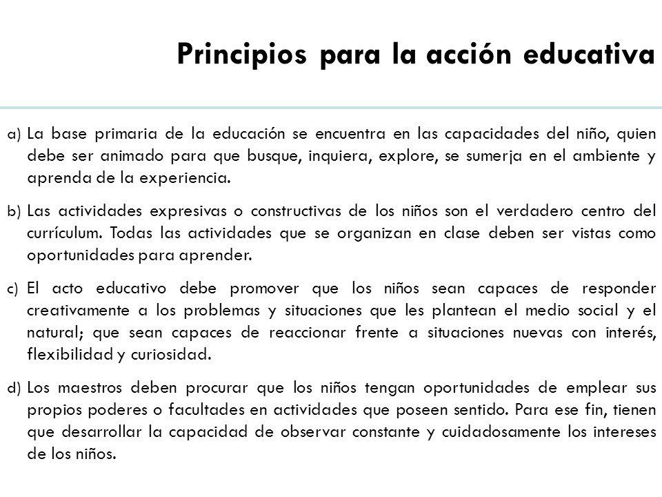 Principios para la acción educativa