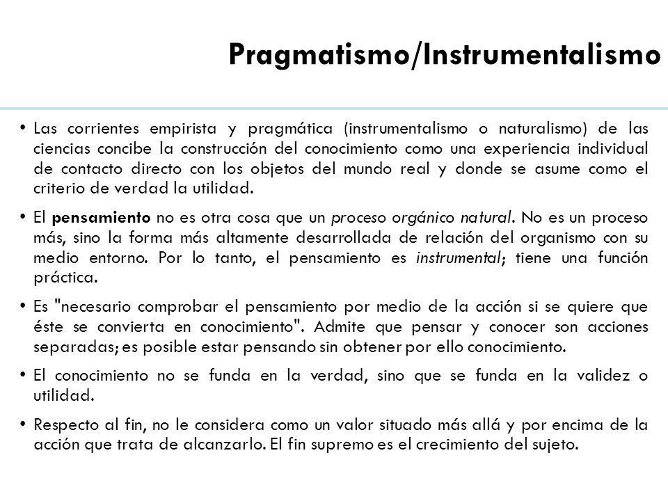 Pragmatismo/Instrumentalismo