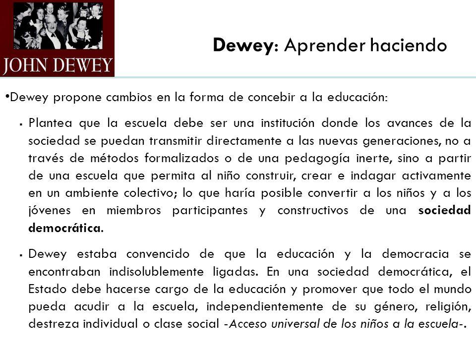 Dewey: Aprender haciendo