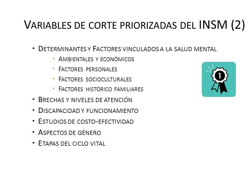 Variables de corte priorizadas del INSM (2)