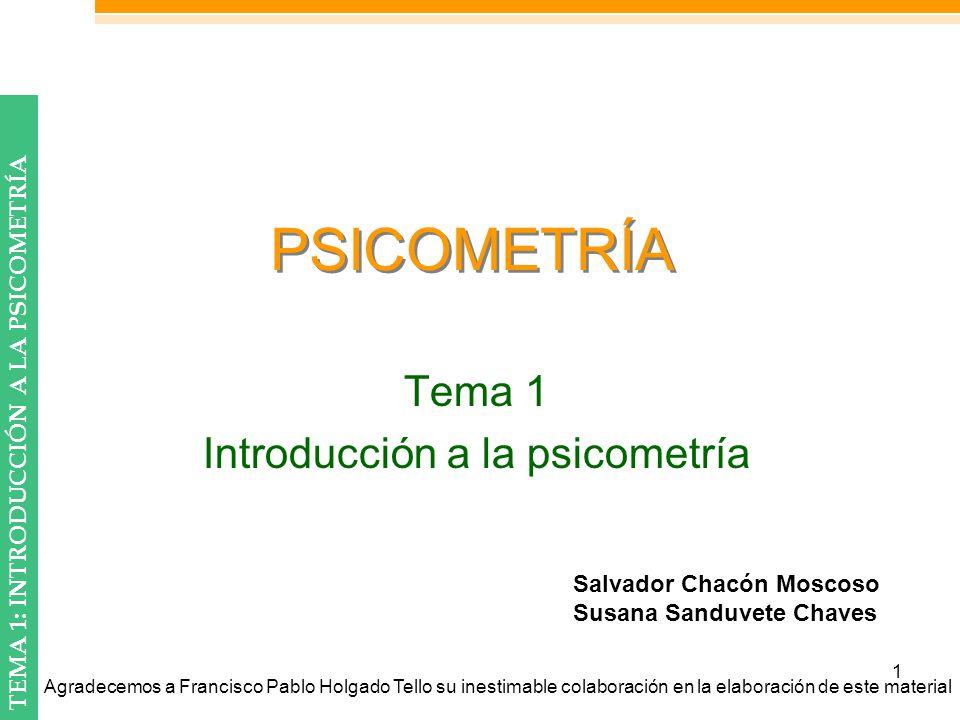 Tema 1 Introducción a la psicometría