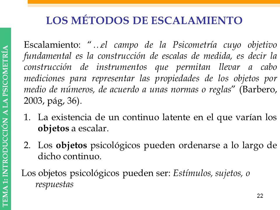 LOS MÉTODOS DE ESCALAMIENTO